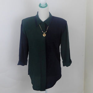 Pride & Joy Button Blue Green Shirt Size 6P Blouse